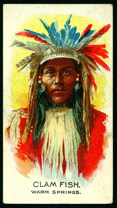 Cigarette Card - Indian Chief, Clam Fish