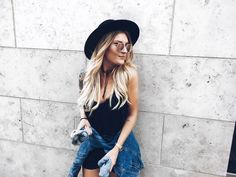 DENIM, LACE AND LEATHER