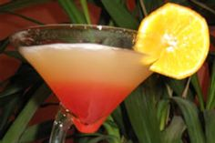 Bikini Martini. 1oz coconut rum, 3/4 vodka, 1oz pinapple juice