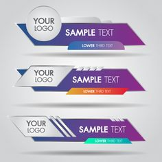 Lower third white and colorful design template modern contemporary. set of banners bar screen Free Banner Templates, Frame Template, Best Banner Design, Logo Samples, Lower Thirds, Banner Printing, Photoshop Design, Layout Design, Ux Design