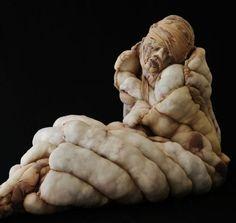 Dutch Artist Creates Grotesque Human Sculptures Out of Women's Stockings Human Sculpture, Soft Sculpture, Lion Sculpture, Nylons, Sculpture Textile, Paper Sculptures, Ceramics Projects, Dutch Artists, Installation Art