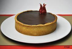 Tarta de crema chiboust de chocolate