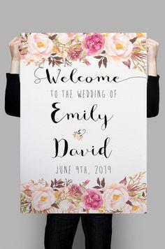 Printable Wedding Welcome Sign Welcome to por HappyLifePrintables