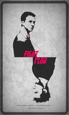 Fight Club Poster by ShaheenNariman on DeviantArt Best Movie Posters, Cool Posters, Film Posters, David Fincher, Fight Club 1999, Marla Singer, Tyler Durden, Graphic Wallpaper, Up Book