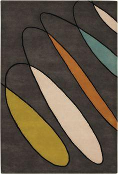 Minor Details HOME: Chandra Bense Garza Modern / Contemporary Hand Tufted Abstract Rug Contemporary Area Rugs, Modern Area Rugs, Contemporary Design, Modern Design, Design Art, Design Patterns, Retro Design, Contemporary Furniture, Print Patterns