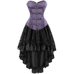 Purple Corset with steel boning throughout 5b9cc4a05c33c