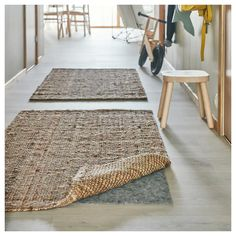 IKEA - LOHALS, Rug, flatwoven, natural, Jute is a durable and recyclable material with natural colour variations. Hallway Furniture, Entryway Rug, Ikea Jute Rug, Lohals, Home Interior, Interior Design, Ikea Living Room, Professional Carpet Cleaning, Natural Rug