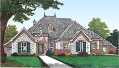 Home Plan with Room to Grow - 48294FM   1st Floor Master Suite, Bonus Room, CAD Available, Corner Lot, Den-Office-Library-Study, European, French Country, Jack & Jill Bath, Media-Game-Home Theater, PDF   Architectural Designs