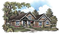 This may be my perfect house. ePlans Craftsman House Plan – 3484 Square Feet and 4 Bedrooms from ePlans – House Plan Code Cottage Floor Plans, Craftsman Exterior, Bungalow House Plans, Craftsman Style House Plans, Country House Plans, Country Style Homes, House Floor Plans, Craftsman Cottage, Craftsman Homes