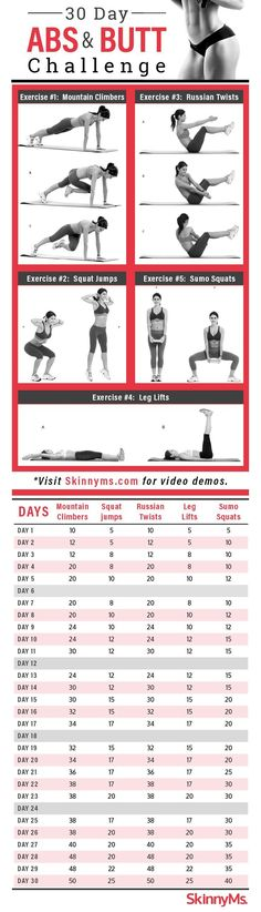30-Day Abs and Butt Challenge