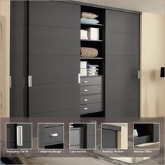 Wardrobe Design Bedroom, Bedroom Cupboard Designs, Bedroom Cupboards, Bedroom Wardrobe, Fitted Bedroom Furniture, Home Decor Furniture, Small Room Bedroom, Home Bedroom, Sliding Door Wardrobe Designs
