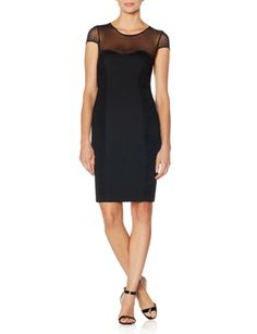 Ponte Knit Bodycon Dress from THELIMITED.com
