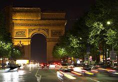 trafic paris | Paris traffic at night