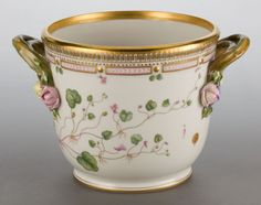 A ROYAL COPENHAGEN FLORA DANICA WINE COOLER. 6-1/2 inches high (16.5 cm). The wine cooler inscribed to the bottom Antirrhinum Cymbalaria L.