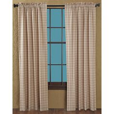 $59.95 VHC Brands Tacoma Curtain Panel Pair creme and red