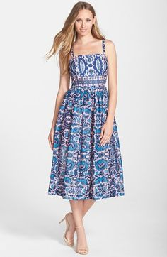 Taylor+Dresses+Cotton+Voile+Midi+Dress+available+at+#Nordstrom
