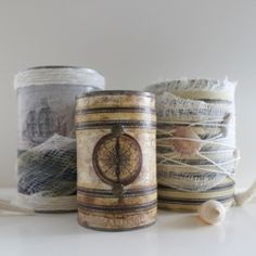 Weathered Nautical Cans   Looksi Square