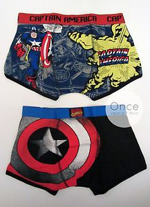 3327d90a99 PRIMARK Mens Official MARVEL CAPTAIN AMERICA Boxer Briefs Underwear Trunks  Set