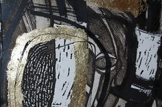 Steph Houstein Aquatint and sugar lift etching with gold leaf and mixed media