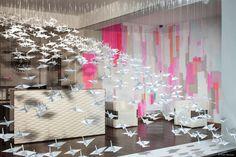 Origami window display