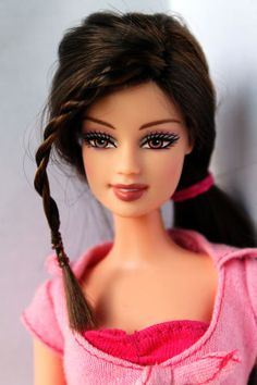 Barbie-Doll-Teresa-Fashion-Fever-Brown-Hair-Redressed-Beautiful