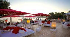 Beautiful views of Old Ibiza City from Sa Punta Restaurant #ibiza #frenchcuisine
