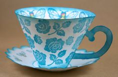 Tea Cup Craft Ideas | Paper Tea Cup and Saucer by Laura Campbell | Craft Ideas