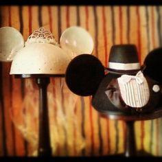 Bride and Groom hats from Disneyland