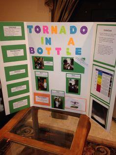 Tornado science fair project. 2nd grade