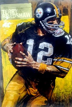 Terry Bradshaw, Pittsburgh Stellers by Stephen Holland