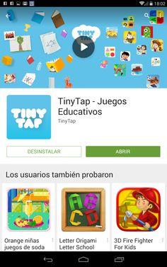 AUTISMO Y EDUCACIÓN: Tiny Tap. ( App para crear )