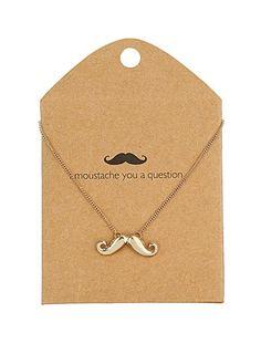 Moustache necklace - Fashion Jewellery  - Accessories