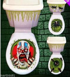 HALLOWEEN TOILET SEAT GRABBER COVER SCARY FANCY DRESS HORROR PARTY DECORATION | eBay