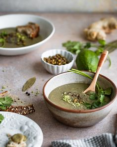 Green moong dal soup - Nourishing and comforting Green moong dal soup with spinach and basic pantry ingredients.perfect for a quick weeknight dinner. Best Vegan Recipes, Indian Food Recipes, Vegetarian Recipes, Ethnic Recipes, Vegan Soups, Vegetarian Cooking, Spinach Recipes, Soup Recipes, Dinner Recipes