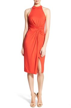 Free shipping and returns on ASTR High Neck Front Twist Front Dress at Nordstrom.com. An elegant front-twist detail adds graceful drape to a party-ready midi dress detailed with a halter-style neckline and a leg-flaunting split-front skirt.