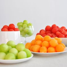 melon balls for snacking on the deck or poolside.