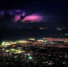 Port-au-Prince at night, Haiti
