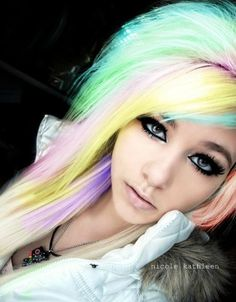 Colorful Hair✶ #Hairstyle #Colorful_Hair #Dyed_Hair
