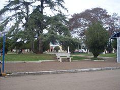 Plaza principal de la ciudad de Tranqueras, a la vera de la Ruta Nacional No. 30, en el Departamento de Rivera.