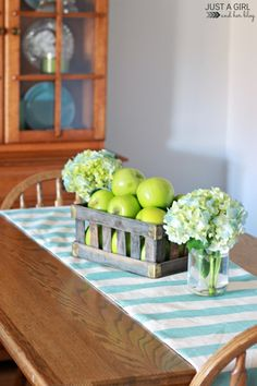 Beautiful fall home tour with neutrals, blues, and greens!   JustAGirlAndHerBlog.com