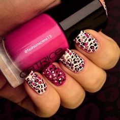 Pink Leopard Nails!!!