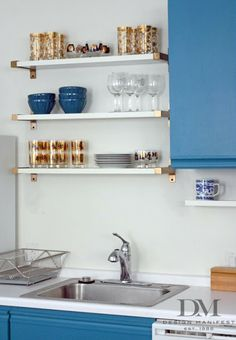 this bracket style would be so great in kitchen or my office ....ikea ekby bjarnum bracket...