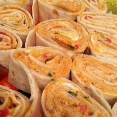 Mexican Chicken Roll-Ups Recipe - easy to serve as an appetizer (note: make it healthier by using reduced fat cream cheese or plain greek yogurt)