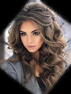 Pin by Jasmine Dee Manzano on Future wedding ❤️ in 2018 - Wedding Hair Styles Pretty Hairstyles, Wedding Hairstyles, Curly Hair Styles, Pinterest Hair, Big Hair, Hair Today, Balayage Hair, Hair Dos, Gorgeous Hair