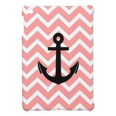 iPad Mini Cases for Teens | chevron pattern zigzag salmon anchor fashion style fabulous elegant