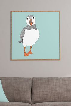 Image of DENY Designs Casey Rogers Puffin 2 Framed Wall Art