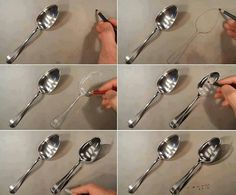 Color Pencil Drawing tutorial spoons