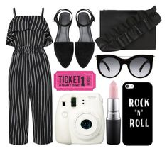 """street style"" by sisaez ❤ liked on Polyvore featuring MSGM, Alexander McQueen, Fujifilm, Casetify and MAC Cosmetics"