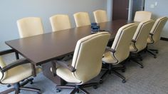 City of Highland Heights Administration Building (Highland Heights, OH)Elouqence executive/management seating in conference room. #NationalOffice #FurnitureWithPersonality