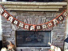 Halloween Trick or Treat Burlap and Fabric Banner  by BurlapBarnShop on Etsy
